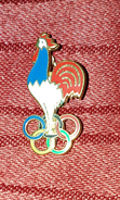 FRANCE OLYMPIC COMMITTEE, ORIGINAL OLD VINTAGE ENAMELLED PIN BADGE - Olympic Games