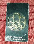 SUMMER OLYMPIC GAMES MONTREAL 1976. ORIGINAL OLD VINTAGE PIN BADGE GOLD PLATED - Olympic Games