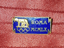 SUMMER OLYMPIC GAMES ROME 1960. RARE ORIGINAL ENAMELLED OLD VINTAGE PIN BADGE - Olympic Games