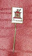 FRANCK, COFFEE... ETC, ORIGINAL VINTAGE PIN BADGE OF FRANCK FACTORY - Trademarks