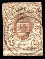 Armoiries 25 Cent.  Non Detelé Marges étroites Prifix 8  Oblitéré  Voisin En Bas - 1859-1880 Armoiries
