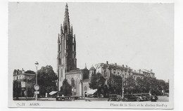 AGEN EN 1940 - N° 71 - PLACE DE LA GARE ET LE CLOCHER STE FOY - VIEILLES VOITURES- CPA VOYAGEE - Agen