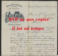 17 JONZAC PRES DE COGNAC - J. GAUTRET & FILS - EAUX DE VIE DE COGNAC EN GROS - VOIR AUTOGRAPHE - DECEMBRE 1895 - 1800 – 1899