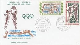 BASKETBALL-PALLACANESTRO, Afars-Issas, 1972, FDC / Special Stamp + Postmark !! - Pallacanestro