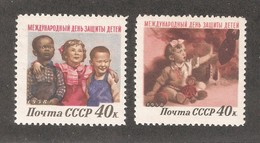 Russia/USSR 1958,Day For The Protection Of Children,Sc 2070-2071,VF MLH* - 1923-1991 USSR