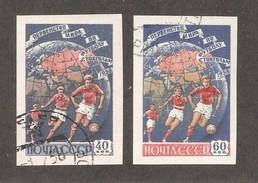 Russia/USSR 1958,Sports,6th World Soccer Championship,Stockholm Imperf,Sc 2072-2073,VF CTO OG - 1923-1991 USSR