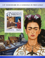 DJIBOUTI 2017 ** Frida Kahlo Paintings Gemälde Peintures S/S - OFFICIAL ISSUE - DH1713 - Künste