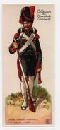 CHROMO Chocolat Lombart à Découper Gray 1808 Garde Impériale Artilleur à Pied Militaria Histoire De France - Chocolat