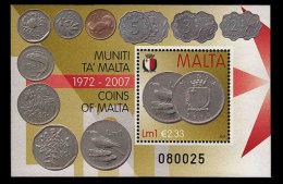 Malta 2007 Miniature Sheets - Coins Of Malta - Malta