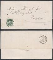 AL264 Lettre De Arlon à Verviers 1873 - Non Classés