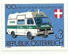 1981 - Austria 1523 Servizio Di Ambulanza