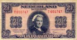 PAYS BAS 2.5 FLORINS Du 18-5-1945  Pick 71 - 2 1/2 Gulden