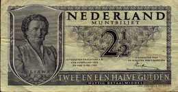 PAYS BAS 2.5 FLORINS Du 8-8-1949  Pick 73 - [2] 1815-… : Kingdom Of The Netherlands