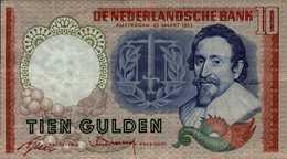 PAYS BAS 10 FLORINS Du 23-3-1953  Pick 85  XF/SUP+ - 10 Gulden