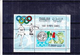 Sharjah - Bloc Mi 41 A Oblitéré  - J.O. Mexique 68 - Médailles - Haies - Drapeaux - - Summer 1968: Mexico City