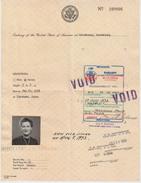 Visa US   Luxembourg   1973 - Décrets & Lois