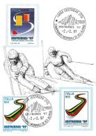 [MD0865] CPM - SESTRIERE (TORINO) CAMPIONATI MONDIALI DI SCI ALPINO -  CON ANNULLO 2.2.1997 - NV - Wintersport