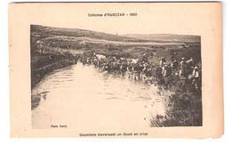 Colonne D'OUEZZAN, Maroc 1920 ; Goumiers Traversant Un Oued En Crue; Manoeuvres; Photo Garry - Manoeuvres