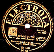 78 T - 30 Cm. - état EX - Rudolf Schock M.gr. Orchester - (voir étiquettes) - 78 Rpm - Schellackplatten