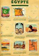 PUPIER AFRIQUE EGYPTE Les 7 CHROMOS De La Page N° 28 - Chocolat