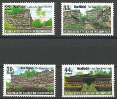 Micronesia - 1985 Nan Madol Ruins Set Of 4 MNH **  SG 44-7   Sc 45 & C16-8 - Micronesia