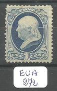 EUA Scott 156 Blue  YT 50B (*) # - 1847-99 General Issues