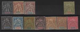 Soudan Français  _  Groupe   Série De 1894 N°3/5 +7/13 +15