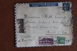 1941    CARCASSONNE  POUR  GUADELOUPE  CROISEUR  JEANNE  D  '  ARC     L.A.C.    3 PHOTOS - Luftpost