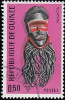 Guinea - Scott #455 Guinean Mask (*) / Used Stamp - Guinea (1958-...)