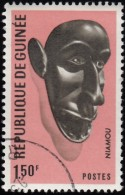 Guinea - Scott #458 Guinean Mask / Used Stamp - Guinea (1958-...)
