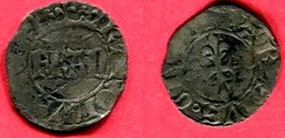 DENIER PARISIS (C 549)   TB 35 - 1380-1422 Charles VI Le Fol