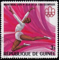 Guinea - Scott #706 Montréal '76 Olympic Games, Gymnast / Used Stamp - Summer 1976: Montreal
