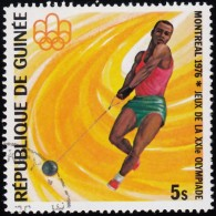 Guinea - Scott #708 Montréal '76 Olympic Games, Hammer Throw / Used Stamp - Summer 1976: Montreal