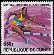 Guinea - Scott #710 Montréal '76 Olympic Games, Hurdles / Used Stamp - Summer 1976: Montreal