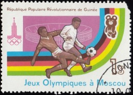 Guinea - Scott #817 Moscow '80 Olympic Games, Soccer / Used Stamp - Summer 1980: Moscow