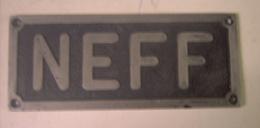 Neff - Bretten  - Munchen  - Plaque  Machine - Outil - Werkzeuge