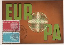 France - 1er Jour FDC  - Conseil De L'Europe - EUROPA -  67 STRASBOURG - 1970-1979