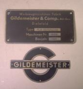 1963 Bielefeld  - Gildemeister  Et Cie  - Plaque  Werkzeugmaschinen - - Werkzeuge