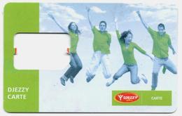 ALGERIE ALGERIA GSM SIM Card DJEZZY Without Chip - Carte Support SIM - SIM-Karte Ohne Chip Tarjeta SIM Sin Chip