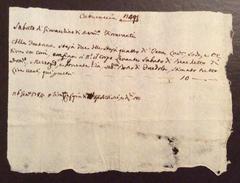 MANOSCRITTO DEL 26/1/1784  RICEVUTA Di GIOVACCHINO FIORAVANTI.... - Manuscripts