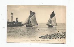 Cp , Bateaux De Pêche , Barques Rentrant Au Port , Voiliers , 14 , HONFLEUR , écrite - Pêche