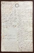 LOMBARDO VENETO VICENZA 31/1/1844  MANOSCRITTO IN CARTA BOLLATA DI 30 C. ..Lorenzoni,Dalla Vecchia Di Avio..... - Manoscritti