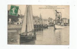 Cp , Bateaux  , Ferry à Vapeur , Départ De L'EMILE SOLACROUP Pour La Promenade En Mer , Voyagée 1912 , 44 , LE POULIGUEN - Ferries