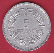 France 5 Francs Lavrillier Aluminium - 1945 B - France