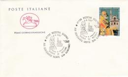 1997 ITALIA - 04 SAN GEMINIANO - FDC CAVALLINO - ANNULLO MODENA CENTRO - 6. 1946-.. Repubblica
