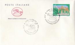 1997 ITALIA - 04 FONDAZIONE ROMA - FDC CAVALLINO - ANNULLO ROMA FILATELICO - 6. 1946-.. Repubblica