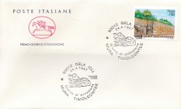 1997 ITALIA - 04 MURA TIMOLEONTEE, GELA - FDC CAVALLINO - ANNULLO GELA - 6. 1946-.. Repubblica