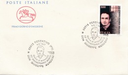 1997 ITALIA - 06 DON GIUSEPPE MOROSINI - FDC CAVALLINO - ANNULLO FERENTINO - 6. 1946-.. Repubblica