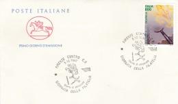 1997 ITALIA - 12 GIORNATA DELLA FILATELIA - FDC CAVALLINO - ANNULLO FIRENZE CENTRO - 6. 1946-.. Repubblica