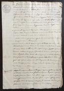 FERRARA GOVERNO PONTIFICIO MANOSCRITTO IN CARTA BOLLATA 60 C  Con Splendido Tabellionato In Data 25/6/1825 - Manoscritti